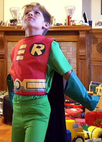 2015 10 25 09.27.03 Robin costume, October 25, 2015, 9:27 a.m.